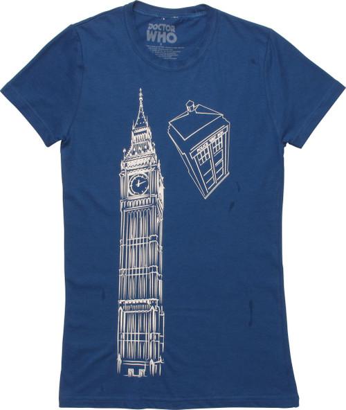 Doctor Who Big Ben and Tardis Juniors T-Shirt