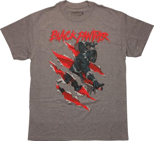 Black Panther Clawing Slash T-Shirt