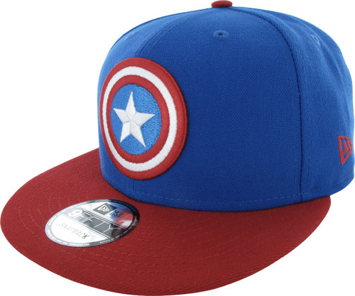 sale retailer 8e5ed 8556b Captain America Logo and Name 9FIFTY Snapback Hat