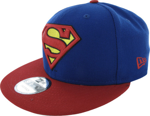 Superman Logo and Name 9FIFTY Snapback Hat