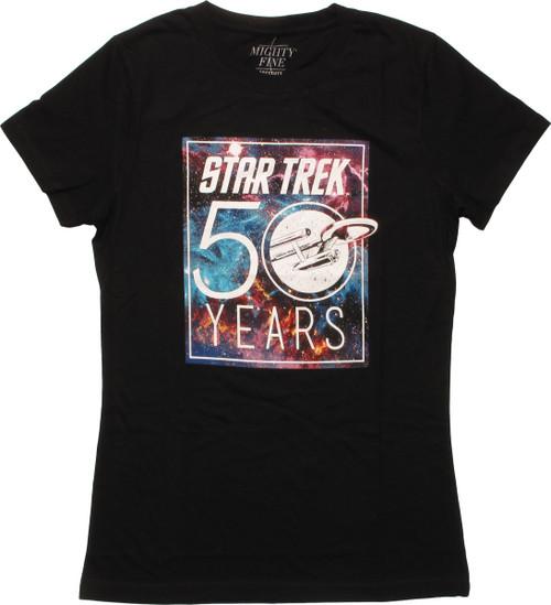 Star Trek 50 Years Mighty Fine Juniors T-Shirt