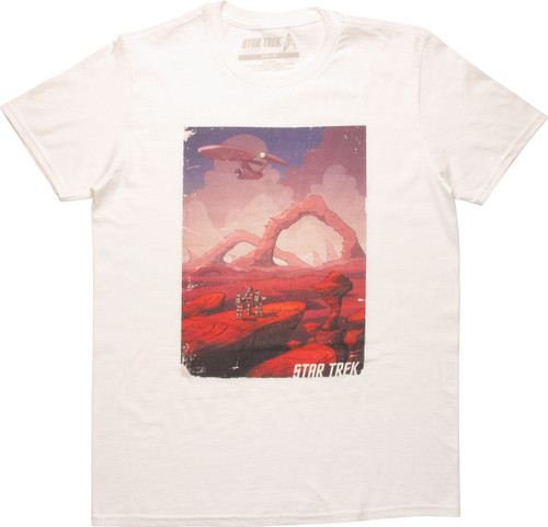 Star Trek Exploration Scene T-Shirt
