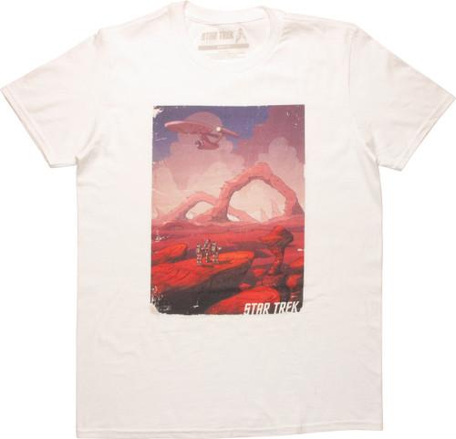 Star Trek Exploration Scene T-Shirt