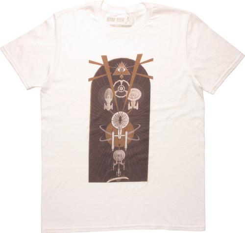 Star Trek Ships and All Seeing Eye Symbol T-Shirt