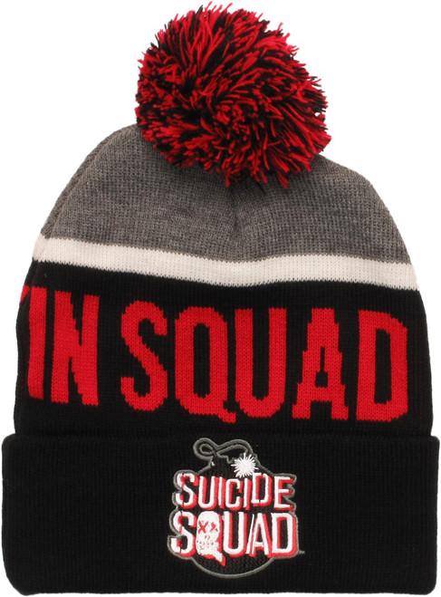 Suicide Squad In Squad We Trust Cuff Pom Beanie