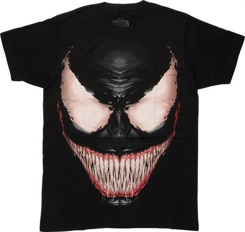 Venom Big Sinister Smiling Face T-Shirt