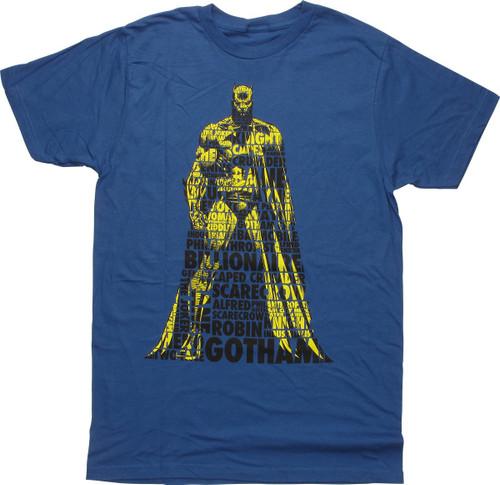Batman Nicknames in Silhouette T-Shirt