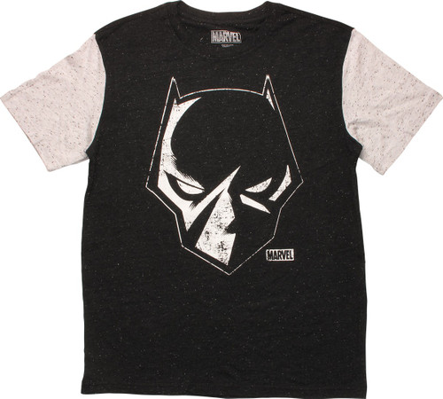 Black Panther Outlined Head T-Shirt