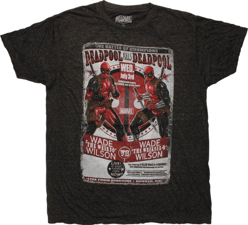 Deadpool Kills Deadpool Battle Flyer T-Shirt Sheer
