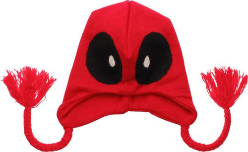 Deadpool Eyes Red Tassels Lapland Beanie