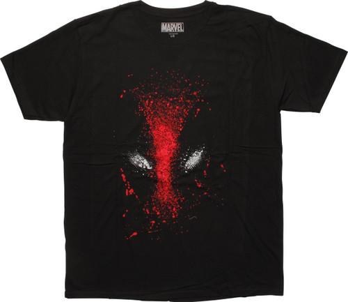 Deadpool Splattered Paint Logo T-Shirt