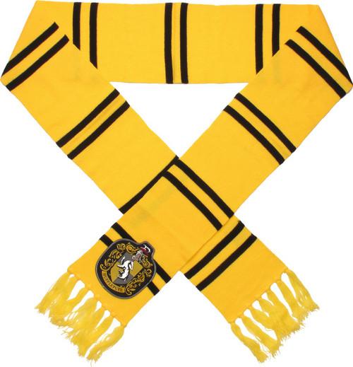 Harry Potter Big Hufflepuff Logo Yellow Scarf