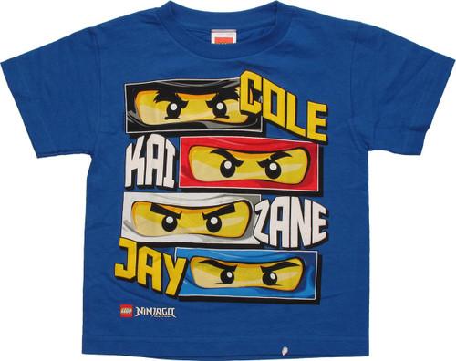 Lego Ninjago Four Eyes and Names Youth T-Shirt