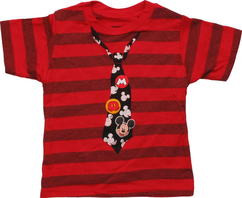 Mickey Mouse Striped and Tie Toddler T-Shirt