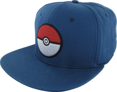 Pokemon Poke Ball Blue Snapback Hat