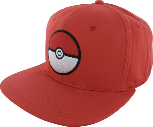 Pokemon Poke Ball Red Snapback Hat 38f7ff1d3608