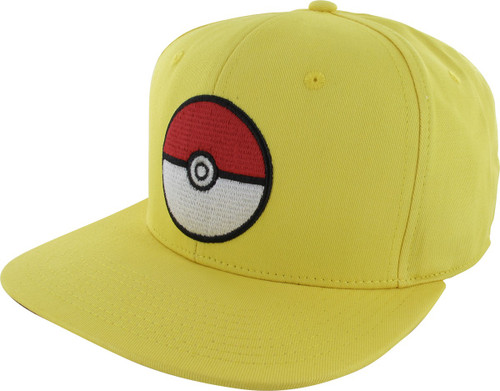 Pokemon Poke Ball Yellow Snapback Hat