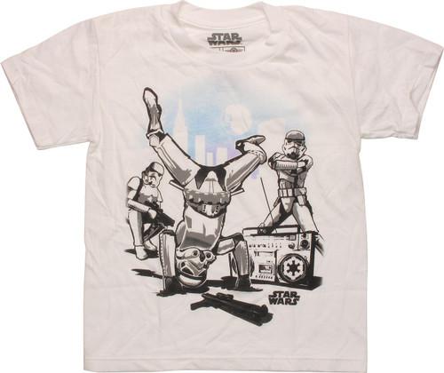 Star Wars Breakdancing Troopers Juvenile T-Shirt