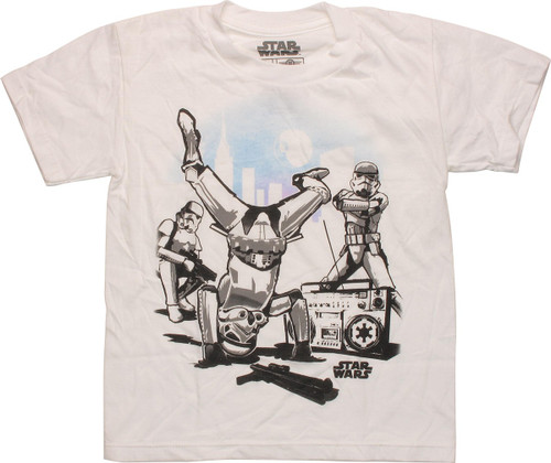 Star Wars Breakdancing Troopers Juvenile T-Shirt