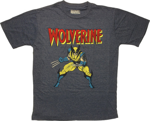 X Men Wolverine Posed Under Name T-Shirt