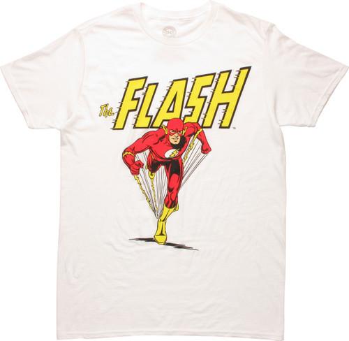 Flash Speed Run Under Name White T-Shirt