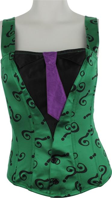 Batman Riddler Suit and Tie Corset Lingerie