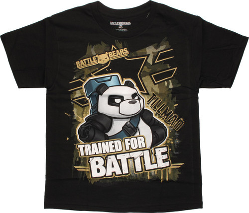 Battle Bears Trained for Battle Youth T-Shirt