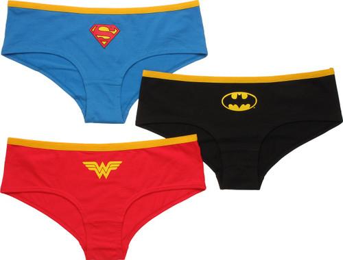 3 Pair Pack Batman Hipster Briefs Pants Set