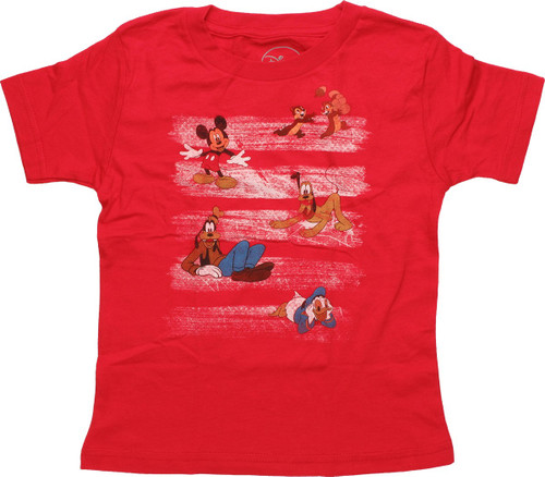 Disney Paint Strokes and Characters Toddler Shirt