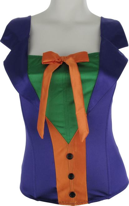 Joker Purple Tuxedo Corset Lingerie