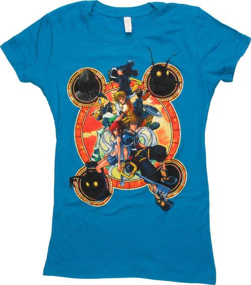 Kingdom Hearts Stack Circles Juniors T-Shirt