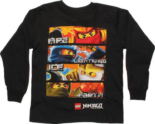 Lego Ninjago Elemental Powers LS Juvenile T-Shirt