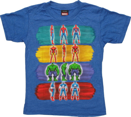 Marvel Paint Strokes and Pose Juvenile T-Shirt