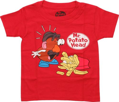 Mr Potato Head Shocked French Fries Toddler Shirt