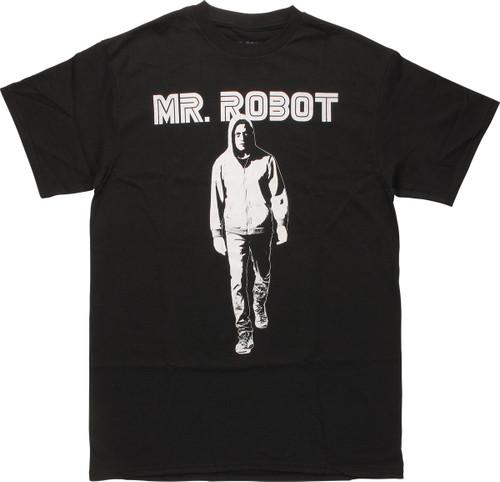 Mr Robot Walking Under Name T-Shirt