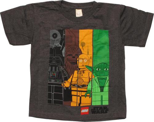 Star Wars Lego Vertical Bars Youth T-Shirt