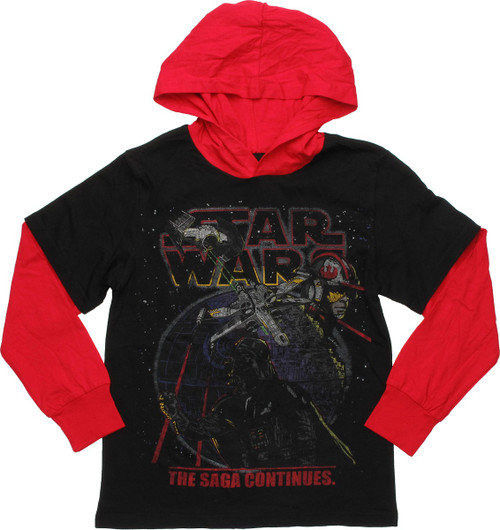 Star Wars Saga Hooded Long Sleeve Youth T-Shirt