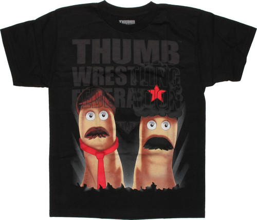 Thumb Wrestling Federation Logo Over Youth T-Shirt