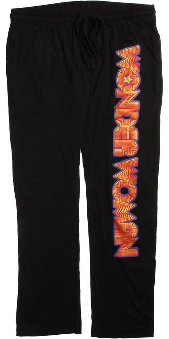 Wonder Woman Vertical Name Lounge Pants