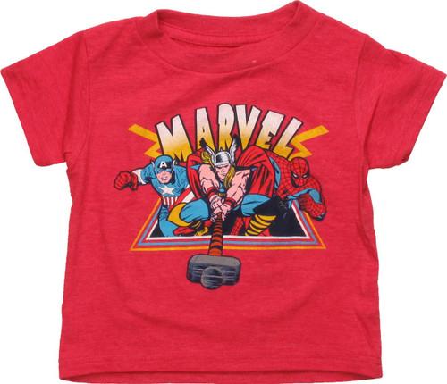 Avengers Hero Trio Triangle Toddler T-Shirt