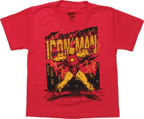 Invincible Iron Man Chain Break Juvenile T-Shirt