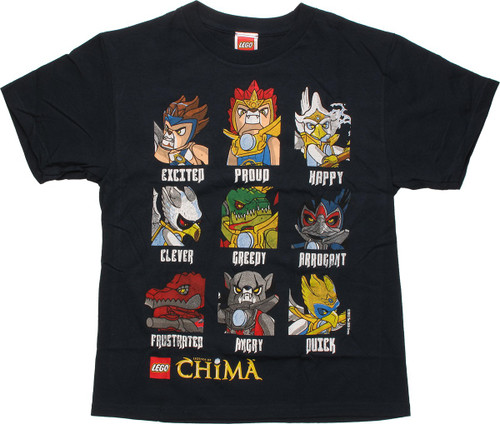 Lego Chima Personality Navy Blue Youth T-Shirt