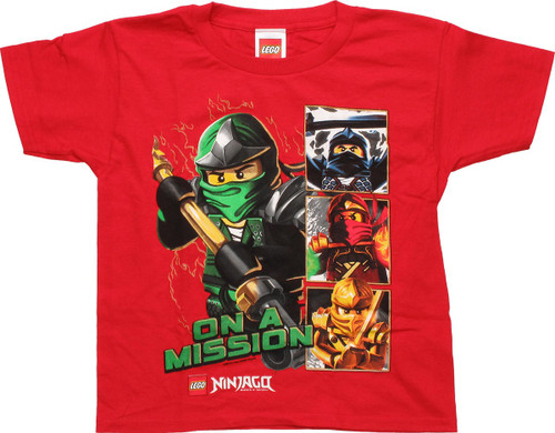 Lego Ninjago Lloyd On a Mission Juvenile T-Shirt