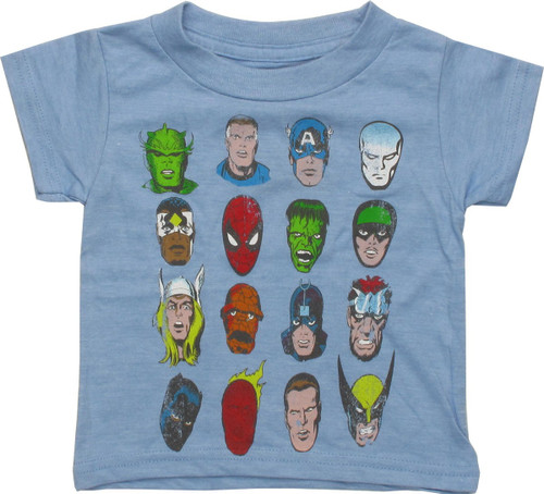 Marvel Sixteen Character Faces Infant T-Shirt