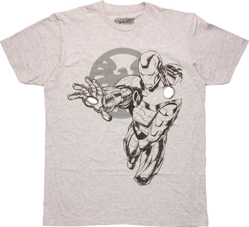 Marvel SHIELD Logo Iron Man T-Shirt Sheer