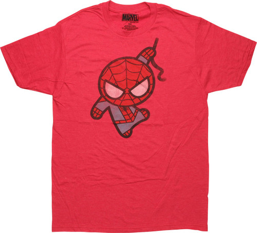Spiderman Toy Web Swing Heather Red T-Shirt Sheer