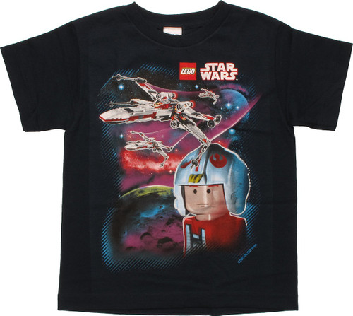 Star Wars Lego Pilot and X-Wings Youth T-Shirt