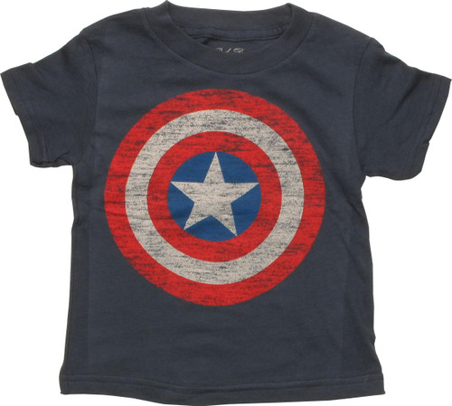 Captain America Distressed Shield Toddler T-Shirt