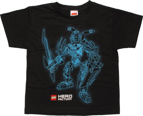 Lego Hero Factory Blue Outline Youth T-Shirt
