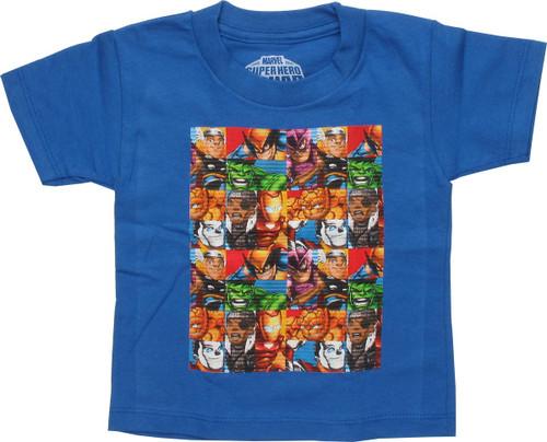 Marvel Hero Squad Geometry Blue Toddler T-Shirt